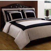 Royal Hotel  Duvet Cover Set 5 Piece - Taupe/Black