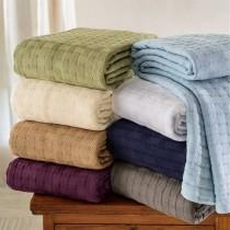 Luxurious 100% Cotton Basket Weave Blanket