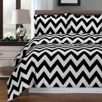 Chevron Egyptian Cotton Duvet Cover Set