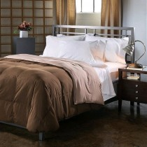 Reversible Down Alternative Comforter - Chocolate/Taupe