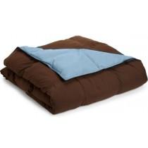 Reversible Down Alternative Comforter - Chocolate/Sky Blue