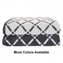 Reversible  Diamond Cotton 2PC Bath Towel Set