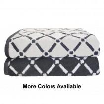 Reversible  Diamond Cotton 2PC Bath Towel Set