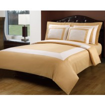 Royal Hotel 5 Piece Duvet Cover Set - Gold/Ivory