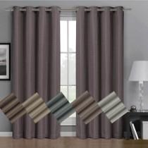 Gulfport Faux Linen Blackout Window Curtain Panels