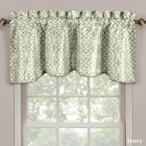 Halifax Embroidered Lined Valance