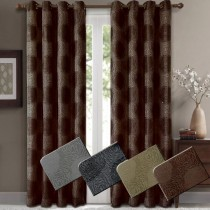 Lexington Jacquard Grommet Window Curtain Panel Pairs