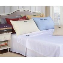 Twin Size Lightweight Microfiber Stripe Sheet Set