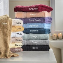 Egyptian Cotton 600 GSM Wash Cloths - 10 PC Set