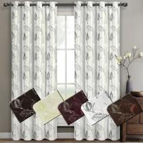 Olivia Embroidered Grommet Curtain Panel Pairs