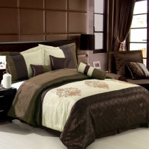 Pacifica 7 Piece Comforter Set - Chocolate