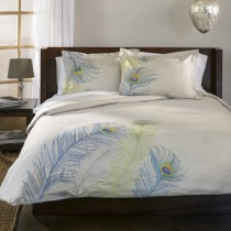 Peacock 3PC Cotton Duvet Cover Set