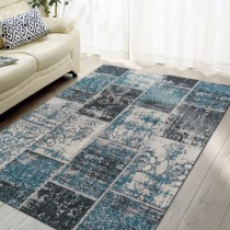 Brighton Patchwork Hand Woven Jacquard Cotton Rug