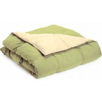 Reversible Down Alternative Comforter - Sage/Ivory