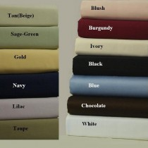 King/CalKing Waterbed Sheet Set 600TC Egyptian Cotton - Solids