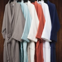 100% Cotton Waffle Unisex Terry Robes