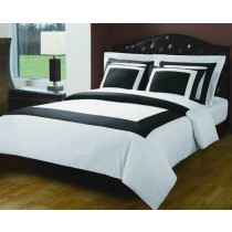 Royal Hotel 5 Piece Duvet Cover Set - White/Black