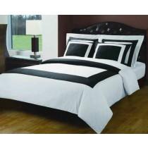 Royal Hotel 5 Piece Duvet Cover Set - White/Black