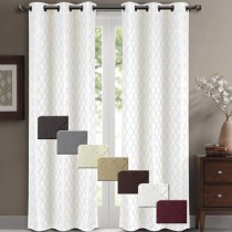 Willow Jacquard Blackout Insulated Curtain Panel Pair