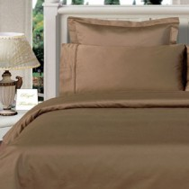 Twin XL Egyptian Cotton Comforter Set - Taupe