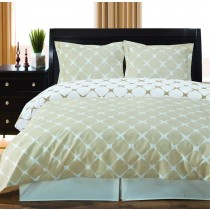Twin XL Reversible Comforter Set - Ivory/Linen