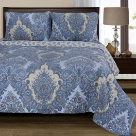 100% Cotton Wave Quilt Set