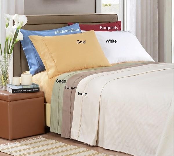 1000 TC Egyptian Cotton Stripe Pillow Cases - King Size