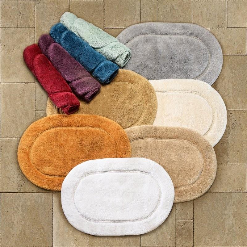 Cotton 2-Piece Oval Bath Rug Set