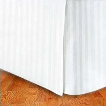 Egyptian Cotton Tailored Bed Skirt Stripes - Queen/King
