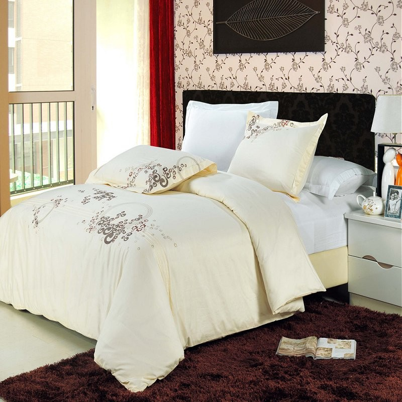 Sophia Embroidered Duvet Cover Set