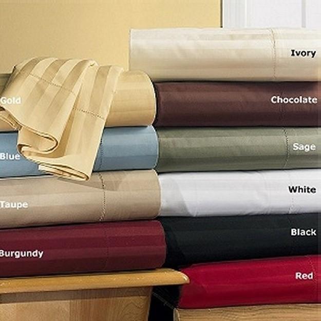 King/Cal King Waterbed Sheet Set 600TC Egyptian Cotton - Stripes