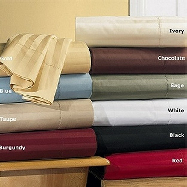 600 TC Egyptian Cotton Stripe Sheet Set - King Size