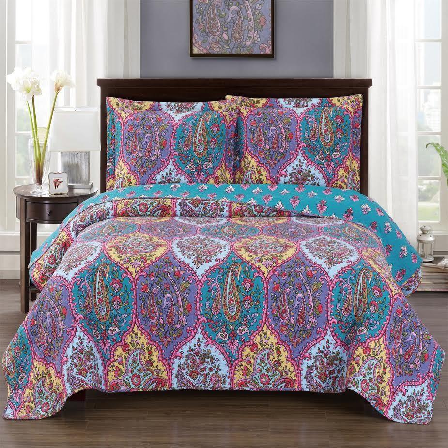 Viola Oversize Coverlet Quilt Set