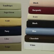 King/CalKing Waterbed Sheet Set 600TC Egyptian Cotton - Solids