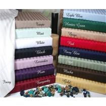 Split King Sheet Set 300 TC Egyptian Cotton - Stripes