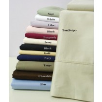 300 TC Egyptian Cotton Solid Pillow Cases - King Size