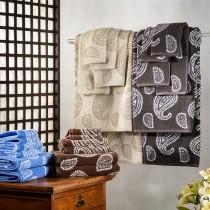 Luxurious Paisley 100% Cotton 6-Piece Towel Set