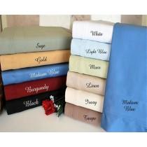 Full Size Sheet Set 600 TC Egyptian Cotton Solid