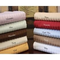 Full Size Egyptian Cotton Sheet Set 600 TC - Stripes