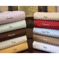 650 TC Egyptian Cotton Stripe Pillow Cases - King Size