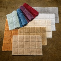 Cotton 2-Piece Checkers Bath Rug Set