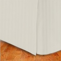 King Size Tailored Microfiber Bed Skirt - Stripes