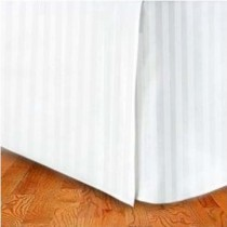 Queen Size Tailored Microfiber Bed Skirt - Stripes