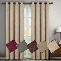 Bella Blackout Weave Embossed Curtain Panel Pairs
