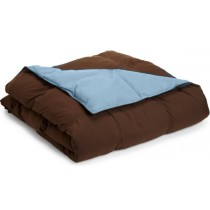 Reversible Down Alternative Comforter - Chocolate/Sky Blue