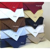Egyptian Cotton Stripe Duvet Set - 600 Thread Count - Full/Queen