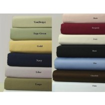 300 TC Egyptian Cotton Solid Sheet Set - Twin Size