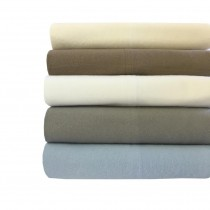 100% NATURAL COTTON SOLID FLANNEL SHEET SETS