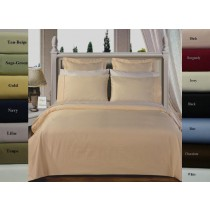 Egyptian Cotton Solid Duvet Set 300 TC - Full/Queen