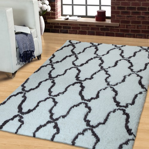 Trellis Hand Woven And Soft Shag Rug
